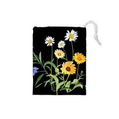 Flowers Of The Field Drawstring Pouches (Small)
