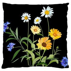 Flowers Of The Field Standard Flano Cushion Case (one Side)