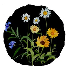 Flowers Of The Field Large 18  Premium Flano Round Cushions
