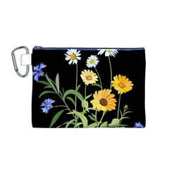 Flowers Of The Field Canvas Cosmetic Bag (m)