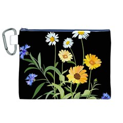 Flowers Of The Field Canvas Cosmetic Bag (xl)