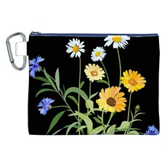Flowers Of The Field Canvas Cosmetic Bag (xxl)