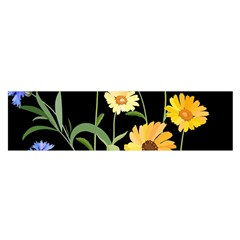 Flowers Of The Field Satin Scarf (Oblong)
