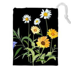 Flowers Of The Field Drawstring Pouches (XXL)