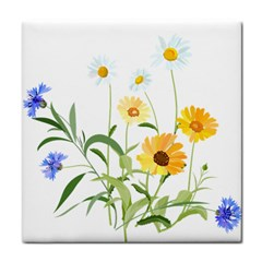 Flowers Flower Of The Field Tile Coasters