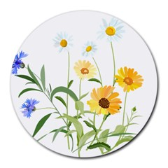 Flowers Flower Of The Field Round Mousepads