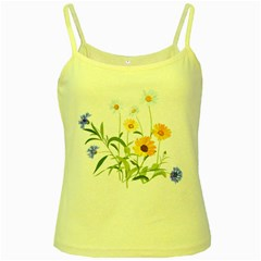 Flowers Flower Of The Field Yellow Spaghetti Tank