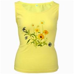 Flowers Flower Of The Field Women s Yellow Tank Top