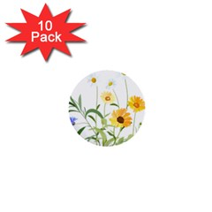 Flowers Flower Of The Field 1  Mini Buttons (10 pack)