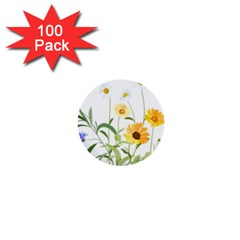 Flowers Flower Of The Field 1  Mini Buttons (100 pack)