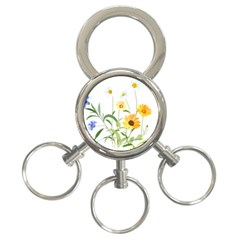 Flowers Flower Of The Field 3-Ring Key Chains