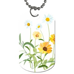 Flowers Flower Of The Field Dog Tag (Two Sides)