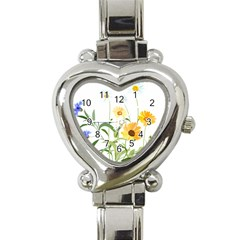 Flowers Flower Of The Field Heart Italian Charm Watch
