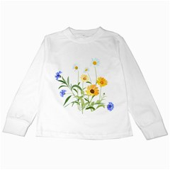 Flowers Flower Of The Field Kids Long Sleeve T Shirts