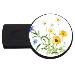 Flowers Flower Of The Field Usb Flash Drive Round (4 Gb)