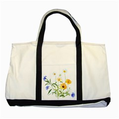 Flowers Flower Of The Field Two Tone Tote Bag