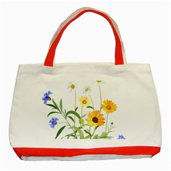 Flowers Flower Of The Field Classic Tote Bag (red)
