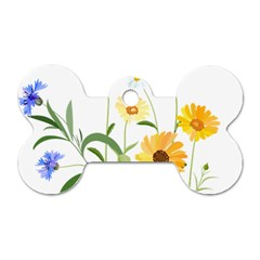 Flowers Flower Of The Field Dog Tag Bone (One Side)