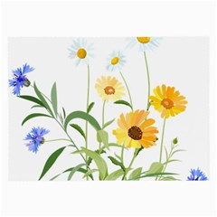 Flowers Flower Of The Field Large Glasses Cloth (2-Side)