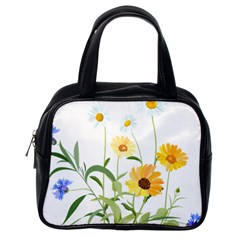 Flowers Flower Of The Field Classic Handbags (One Side)