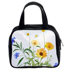 Flowers Flower Of The Field Classic Handbags (2 Sides)