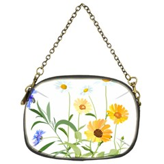 Flowers Flower Of The Field Chain Purses (one Side)