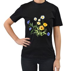 Flowers Flower Of The Field Women s T Shirt (black)