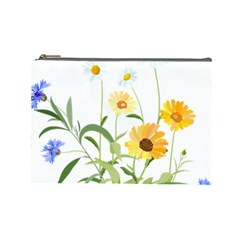 Flowers Flower Of The Field Cosmetic Bag (Large)