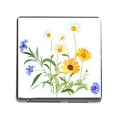 Flowers Flower Of The Field Memory Card Reader (Square)