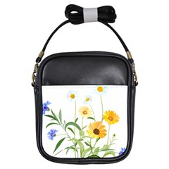 Flowers Flower Of The Field Girls Sling Bags