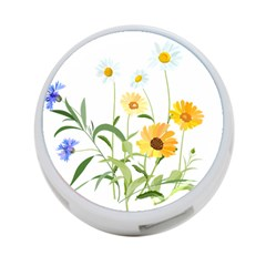 Flowers Flower Of The Field 4 Port Usb Hub (two Sides)