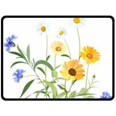 Flowers Flower Of The Field Fleece Blanket (Large)