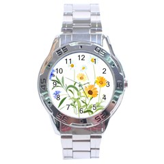 Flowers Flower Of The Field Stainless Steel Analogue Watch