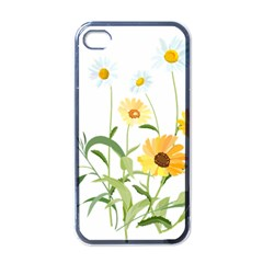 Flowers Flower Of The Field Apple Iphone 4 Case (black)