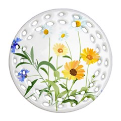 Flowers Flower Of The Field Ornament (Round Filigree)
