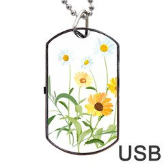 Flowers Flower Of The Field Dog Tag Usb Flash (two Sides)