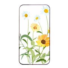 Flowers Flower Of The Field Apple Iphone 4/4s Seamless Case (black)