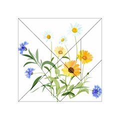 Flowers Flower Of The Field Acrylic Tangram Puzzle (4  X 4 )