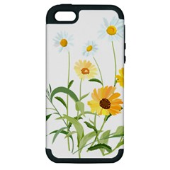 Flowers Flower Of The Field Apple iPhone 5 Hardshell Case (PC+Silicone)