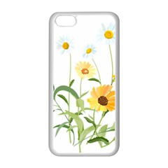 Flowers Flower Of The Field Apple iPhone 5C Seamless Case (White)