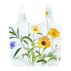 Flowers Flower Of The Field Full Print Recycle Bags (l)