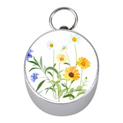 Flowers Flower Of The Field Mini Silver Compasses