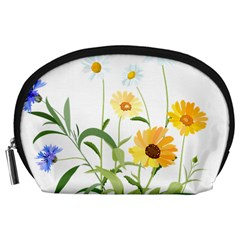 Flowers Flower Of The Field Accessory Pouches (Large)