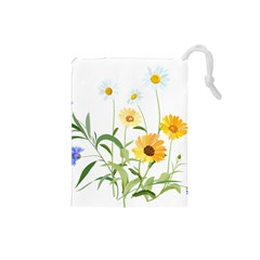 Flowers Flower Of The Field Drawstring Pouches (Small)