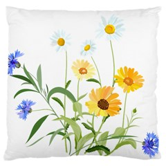 Flowers Flower Of The Field Large Flano Cushion Case (one Side)
