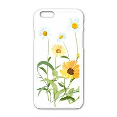 Flowers Flower Of The Field Apple iPhone 6/6S White Enamel Case