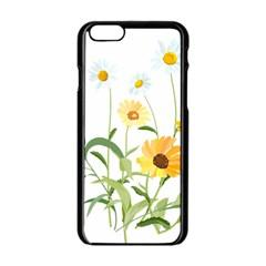 Flowers Flower Of The Field Apple Iphone 6/6s Black Enamel Case