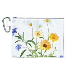 Flowers Flower Of The Field Canvas Cosmetic Bag (L)