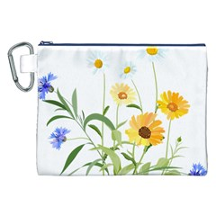 Flowers Flower Of The Field Canvas Cosmetic Bag (XXL)