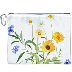 Flowers Flower Of The Field Canvas Cosmetic Bag (xxxl)